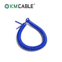 China Curly Waterproof 7 Core Trailer Cable  2.7m - 3.5 Meters For Heavy Duty Agriculture wholesale