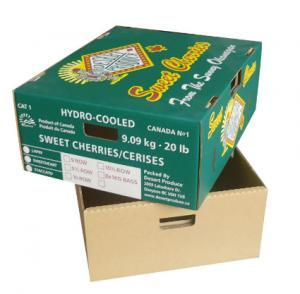 China Fresh Food Cardboard Vegetable Boxes , Fruit Shipping Boxes Custom Logo wholesale