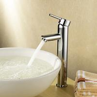 China Single Handle Deck Mounted Brass Bathroom Tap Chrome Plated For Above Counter Basin wholesale