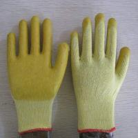 China yellow PVC coated working gloves PG1514-2 wholesale