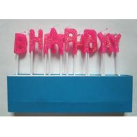 Glittering Pink Letter Birthday Candles Molded Toothpick for Cakes Decoration