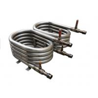 China 20P Spiral Coil Coaxial Heat Exchanger Convenient Oil Returning Smoothly wholesale