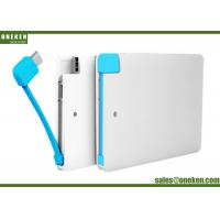 China Built In Cable Super Slim Power Bank 2500mah Capacity For Iphone 5V / 1A wholesale