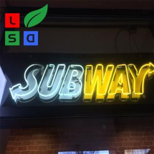 China Acrylic Led Signage Led Neon Light Hand Made Logo Sign For Subway Using wholesale