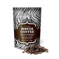 China Stand Up Matt Aluminum Foil Coffee Bag With Zipper , Brown Coffee Bags Food Bags on sale