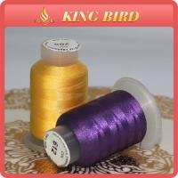 China Conductive Polyester Filament Yarn Embroidery Bobbin Thread For Garments wholesale