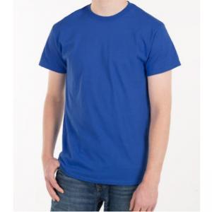 China Blank Plain Round Neck Mens Soft Cotton T Shirts With Custom Logo on sale
