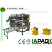 China Double Row Automatic Case Packer Speed 70 - 130 Per Packs Minute on sale