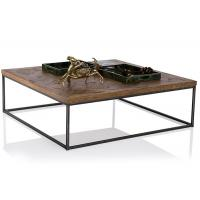 China Industrial Style Solid Wood End Tables And Coffee Tables With Iron Frame on sale