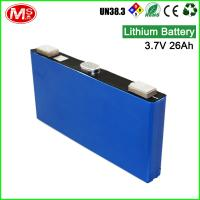China High discharge rechargeable lithium ion battery 3.7V 26Ah lithium battery for solar system wholesale
