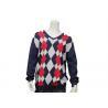 China Argyle Sweater Design For Men Intarsia Patterns V Neck Long Sleeve Knitted Jumper wholesale