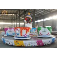 China 3.5kw Power Crazy Carnival Rides 6m Diameter 3.5rpm Speed Saucer Tea Cup Design wholesale