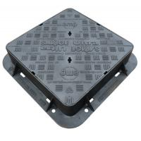 Buy cheap EN124 D400 Cast Iron Manhole Cover Double Sealed Triangular Ductile Iron Manhole from wholesalers