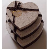 China Heart Shape Recycled Gift Paper Box Packaging , Brown Cream Paper Box Customized Size wholesale