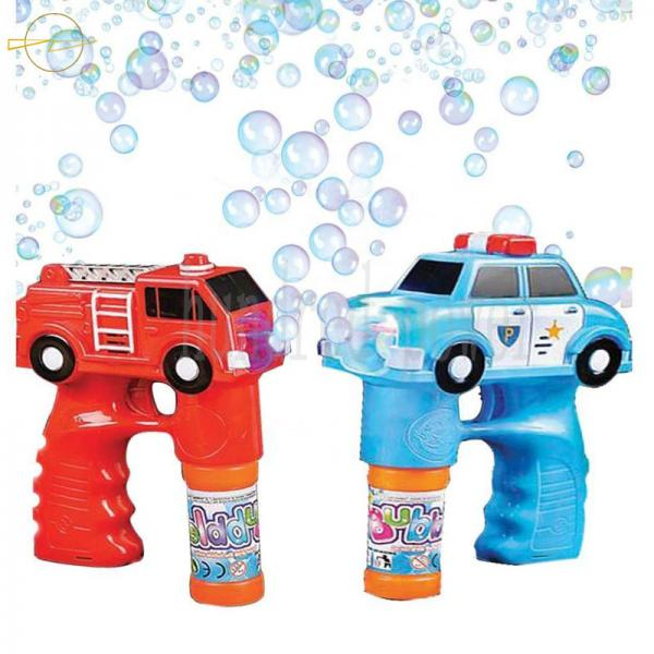 Quality Musical Children'S Light Up Bubble Blaster Car Shape 3*AA Batteries Included for sale