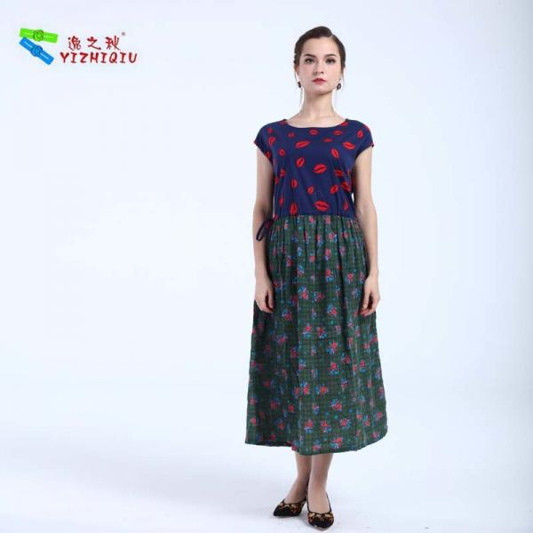 Quality YIZHIQIU Customized Fashion Cotton Material Dress for sale