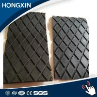 China 15mm thickness wear resistant conveyor pulley diamond shape rubber pulley lagging supplier wholesale