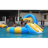 China 0.9mm PVC Tarpaulin Inflatable Water Trampoline Combo For Swimming Pool on sale