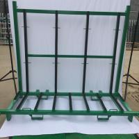 China Spray Paint Finish Defensive Barrier A Frame Rack Glass Storage Racks wholesale
