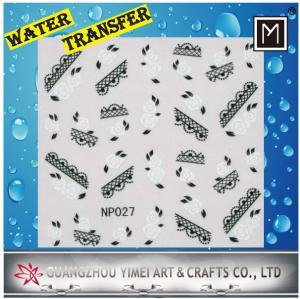 China DIY creative nail decoration Art Water Transfer Nail Stickers, Custom decals wholesale