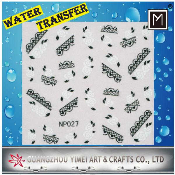 DIY creative nail decoration Art Water Transfer Nail Stickers, Custom decals