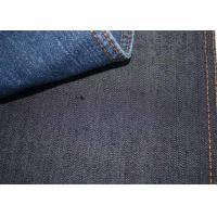 China Blue Plain Weave Premium Stretchable Jeans Fabric 8.2oz Weight For Shirts W079 wholesale