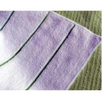 China microfiber towel with color stripe wholesale