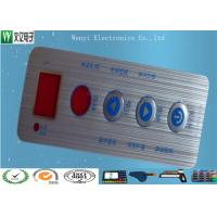 China Waterproof Membrane Switch Touch Panel Overlay Red Window Silver Contact Pad on sale