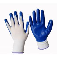 China nitrile palm coated work gloves on sale