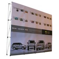 China Easy Installation Trade Show Backdrop Displays Folding Banner Stand Smooth Surface wholesale