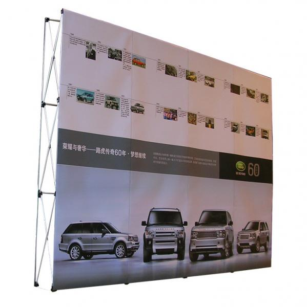 Quality Easy Installation Trade Show Backdrop Displays Folding Banner Stand Smooth Surface for sale