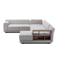 Buy cheap L Shape Fabric Living Room Sectional Sofa SMY-7177 With Recliners from wholesalers