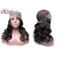 China Unprocessed Natural Human Hair Lace Front Wigs With Combs / Clips Inside wholesale