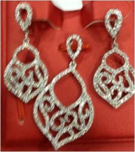 China silver jewelry big set, micro setting silver set,china factory wholesale
