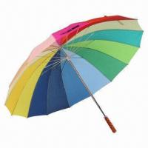 China 170T polyester rainbow umbrella, sized 27 x 16K on sale