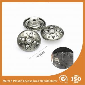 Buy cheap Античные серебряные кнопки Джина инкрустации диаманта, уравновешивания одежды и вспомогательное оборудование from wholesalers