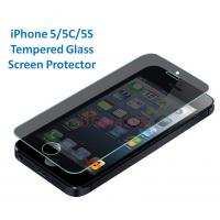 China iPhone 5S tempered glass screen protector 0.33 mm ultra thin 9H hardness high transparency wholesale