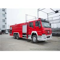 China Howo Heavy Duty Rescue Fire Truck With Fire Fighting Equipments Diesel Fuel Type on sale