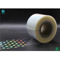 China High Shrinkage Rate 5% - 10% BOPP Holographic Plastic Film With Laser Logo And Name wholesale