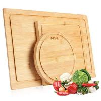 China BPA Free Bamboo Cutting Board for Wood Serving and Chopping Boards with Juice Groove, Set of 3 wholesale