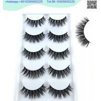 china 3D Faux Mink Double-Layered Silk Lashes Synthetic Fake Eyelashes Wholesale