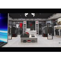 China Casual Wear Shop Clothing Display Case , Brand Unique Design Clothes Hanger Stand wholesale
