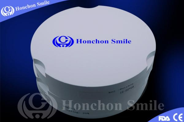 Quality High Strength Translucent Dental Zirconia Block For Dental Bridges And Crowns for sale