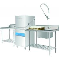 China 6.5KW / 11KW Hood type dishwasher  for Restaurants / Staff canteens wholesale