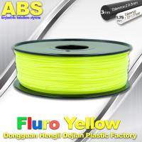 China Fluorescent  Filament ABS 3D Printing Material For Desktop Printer wholesale