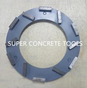China Klindex MTS 200mm 12 Seg Concrete Marble Teerrazo Metal Bond Floor Diamond Grinding Plate wholesale