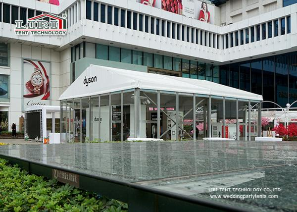 Quality 10m Clear Span A shape Outdoor Party Tent For New Product Launch for sale