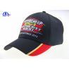 China 6 Panel Black Embroidery Custom Baseball Caps wholesale