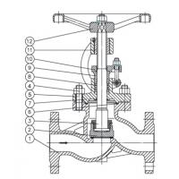 Din Industrial Globe Valve Drawing