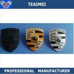 China Porsche Chrome / Carbon Fiber Car Front Grill Emblems / Car Name Badges wholesale
